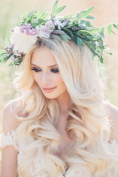 Boho Flower Crowns we love ~ Crooked Willow Farms #flowercrown #weddinghair