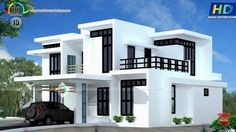 Duplex House Design, Simple House Design, House Front Design, Dream Home Design, Modern House Design, Four Bedroom House Plans, Sims House Plans, Indian Home Design, House Elevation