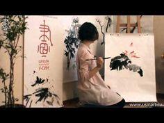 Уроки по рисованию лотоса 荷花 в китайской живописи и живописи у-син Урок 3 Лотос на вертикали - YouTube