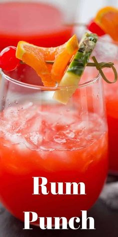 Summers and fruity cocktails go hand in hand that is why you need this rum punch recipe! The vibrant color and the Caribbean flavor will have your dreaming of the beach!