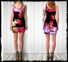 SUMMER SALE- Imagination Bodycon dress- From the Menagerie Collection - Art and Fashion - Unique - Bodycon- Women and Teen- Muse- Abstract by WishingInkwell on Etsy