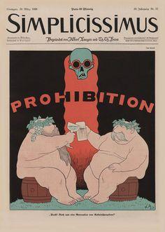 Prohibition - Karl Arnold - Simplicissimus Cover