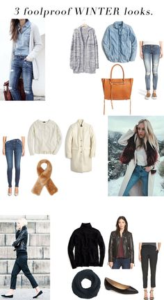 jillgg's good life (for less)   a west michigan style blog: 3 fool proof winter looks!