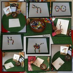 """Creating pictures with mosaic squares- inspired by 'Pezzettino'... from Rachel ("""",)"""