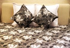 Floral Bed Cover Set, with 1 Double Bed Cover and 2 Cushion Covers   Rs. 4,280