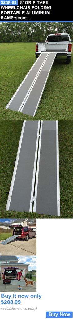 Access Ramps: 8 Grip Tape Wheelchair Folding Portable Aluminum Ramp:Scooter Carrier Threshold BUY IT NOW ONLY: $208.99