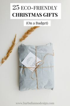 25 Eco-Friendly Christmas Gifts on A Budget. If you would you like to minimise the spend and the environmental footprint, but still get a fantastic gift for your loved ones this Christmas, then you're in the right place. #ecofriendlychristmasgifts #christmasgiftsideas #ecofriendlygifts #ecofriendlychristmas #sustainablegifts #sustainablechristmasgifts #sustainablechristmas