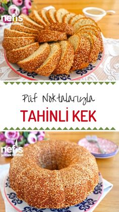 Very Roast Tahini Cake (Awesome) – Delicious Recipes - Kuchen Rezepte Tahini, Healthy Dinner Recipes, Delicious Desserts, Good Food, Yummy Food, Best Cake Recipes, Yummy Recipes, Turkish Recipes, Food Cakes