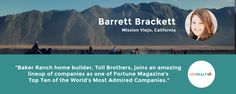 What #BakerRanch builder just got named one of Fortune's Most Admired Companies? Find out: https://wikirealty.com/