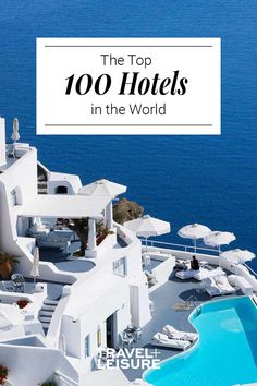 Travel + Leisure has ranked and listed the top 100 hotels around the world. Whether you're looking for a resort by the beach or hotel in the city we have found the best places to stay for your next vacation. Top Hotels, Hotels And Resorts, Best Hotels, Travel Destinations, Vacation Travel, Vacation Ideas, Elite Hotels, Book A Hotel Room, Hotel Safe