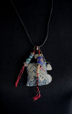 Mail Stone AMULET Necklace Urban Gypsy Talisman by TuscanRose