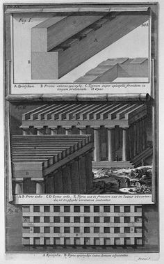 Doric Temple wooden beam design