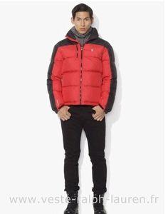 Polo officiel - doudoune Ralph Lauren hommes star 2013 beau pony coton casual rouge noir Doudoune