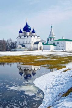 Rozhdestvenskii Cathedral/Church of the Nativity of Christ/early 13th century/possibly the oldest in Suzdal/Arkhiereiskie chambers adjoin Cathedral