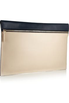 Victoria Beckham | Two-tone leather clutch