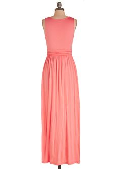 Adore Power to You Dress in Hibiscus. Slip into this vibrant pink maxi dress and feel empowered by a sense of adorableness! #coral #modcloth