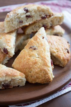 Cranberry Yogurt Scones -- add white chocolate or lemon zest for something a bit different. Mine were cooked by 15 minutes