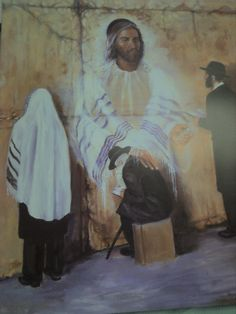 Yeshua (Jesus) at the Western Wall is a full color (16 x 20) artist's impression of His heart for His people today. With outstretched arms towards His people praying at the Western Wall in Jerusalem.