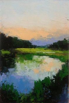 """Marsh, Flood Tide"" - Original Fine Art for Sale - © Mary Gilkerson"