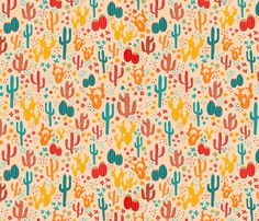 Cactus Print fabric by bags29 on Spoonflower - custom fabric