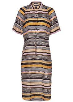 Silkekjole stribet 10097 Storm og Marie Nova Dress - all over print