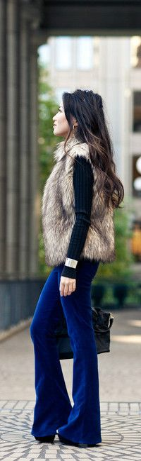 Velvet Crush :: Lush Pants & Faux Fur Vest-