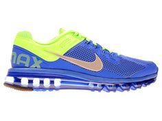 Nike Air Max 2013 Chaussures Nike Pas Cher Homme Bleu/jaune 554886-403