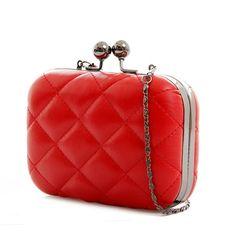 Vintage Lady Chain Cross Pattern Shoulder Clutch Purse Handbag Evening Bag