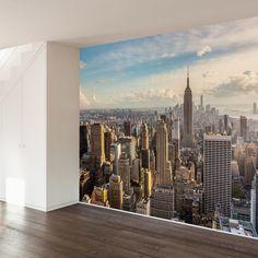 New York Skyline Wall Mural Decal