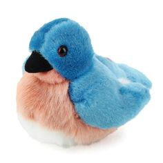 Plush Eastern Blue Bird Audubon Bird With Sound By Wild Republic