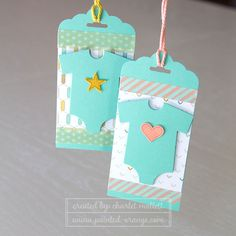 Something for Baby matching gift tags. Stampin' Up!