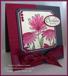 Birthday card using Stampin Up In Full Bloom
