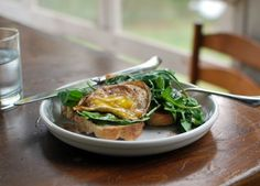 Fried egg in sizzling vinegar Adapted just barely from Deborah Madison's book, Local Flavors