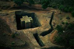 The Church of St. George/Bet Giyorgis in Lalibela, Ethiopia, by George Steinmetz