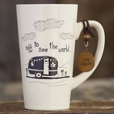 "Natural Life Mug ""Off to see the World"""