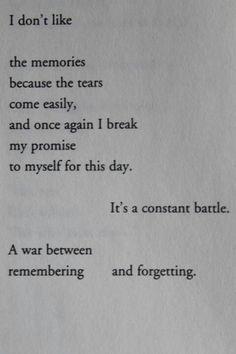 Broken dreams; How this speaks to me about my own life....speaks volumes...