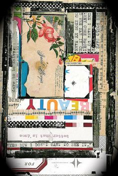 collage  { luv the color; juxtaposition of shape }