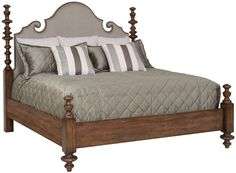 Upholstered Poster Bed | Bernhardt