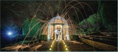 Wire wool magic! Great pyrotechnic winter wedding photography by www.pixiesinthecellar.co.uk