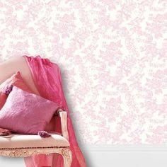 Crown - Papier Peint Mural Dentelle Vintage Damassé Style Toile De Jouy: Amazon.fr: Bricolage