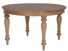 Villeneuve Oak Round Dining Table