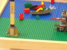 """Large Lego Table (6 plate) Solid Wood 22"""" tall"""