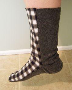 Free Fleece Sock Sewing Pattern   Fleece Sock Tutorial