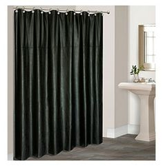 United Curtain Co. Leather Shower Curtain at www.bonton.com