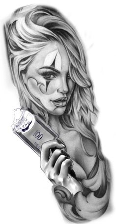 Discover recipes, home ideas, style inspiration and other ideas to try. Sketch Tattoo Design, Skull Tattoo Design, Tattoo Sketches, Tattoo Designs, Chicano Tattoos Sleeve, Chicano Style Tattoo, Body Art Tattoos, Girl Face Tattoo, Girl Tattoos