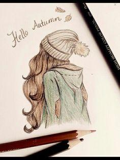 fashion idea,long waves drawing