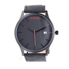 MVMT Black Face Stainless Steel Watch with Black Leather Strap Black Leather Watch, Tan Leather, Mvmt Watches, Watches For Men, Men Accesories, Beautiful Watches, Stainless Steel Watch, Vintage Watches, Fashion Watches