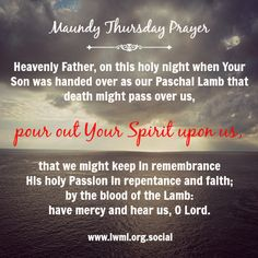 Maundy Thursday graphic.