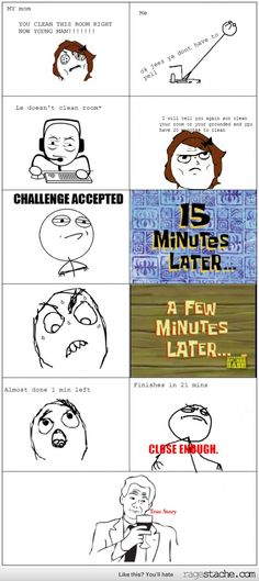 Y R U Cleaning Mom? | Funny Comic Troll | Pinterest
