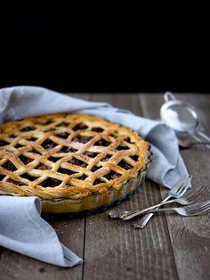 Pradobroty: Křehký švestkový koláč / plum pie Plum Pie, Ham, Waffles, Food And Drink, Ice Cream, Sweets, Baking, Breakfast, No Churn Ice Cream